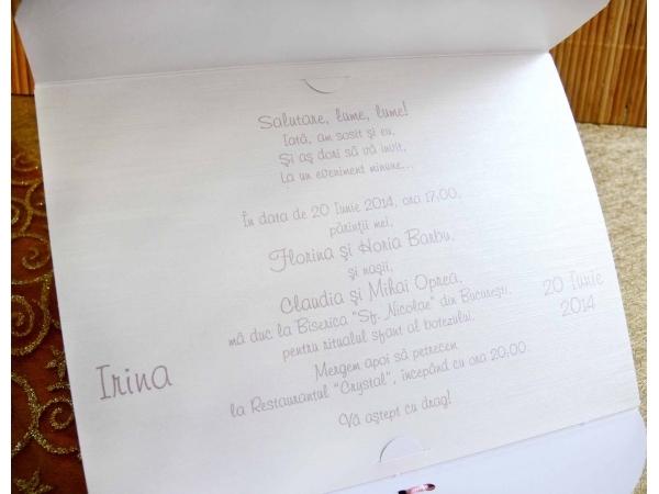Invitatie botez cod 15310