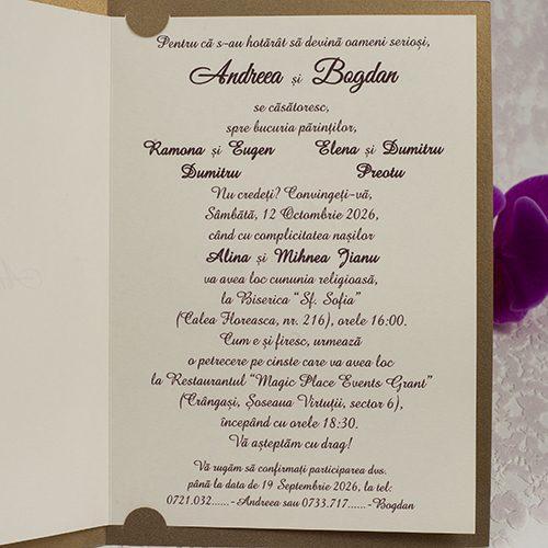 Invitatie nunta cod 2193