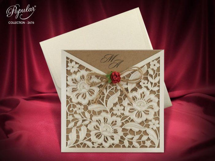 Invitatie nunta cod 2676