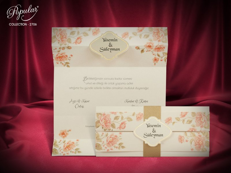 Invitatie nunta cod 2706
