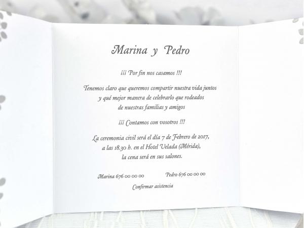 Invitatie nunta cod 35720