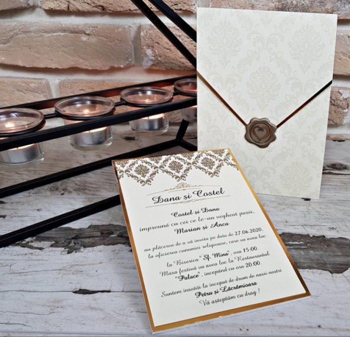Invitatie nunta cod 3684