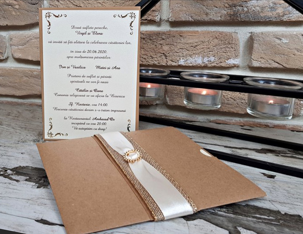 Invitatie nunta cod 3718