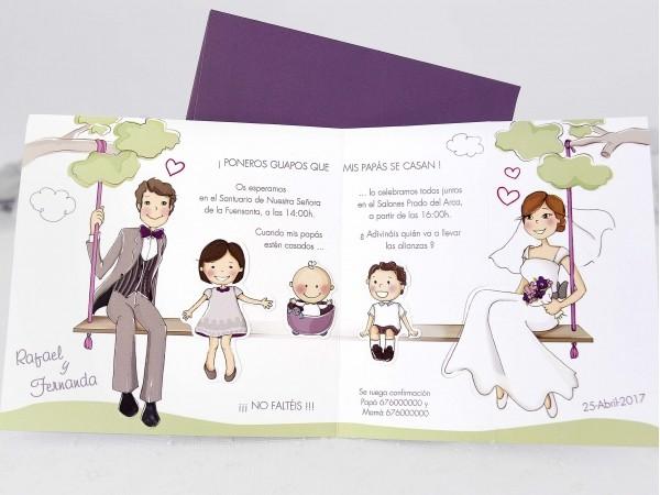 Invitatie nunta si botez cod 39124