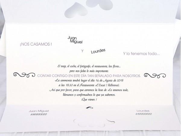 Invitatie nunta cod 39219