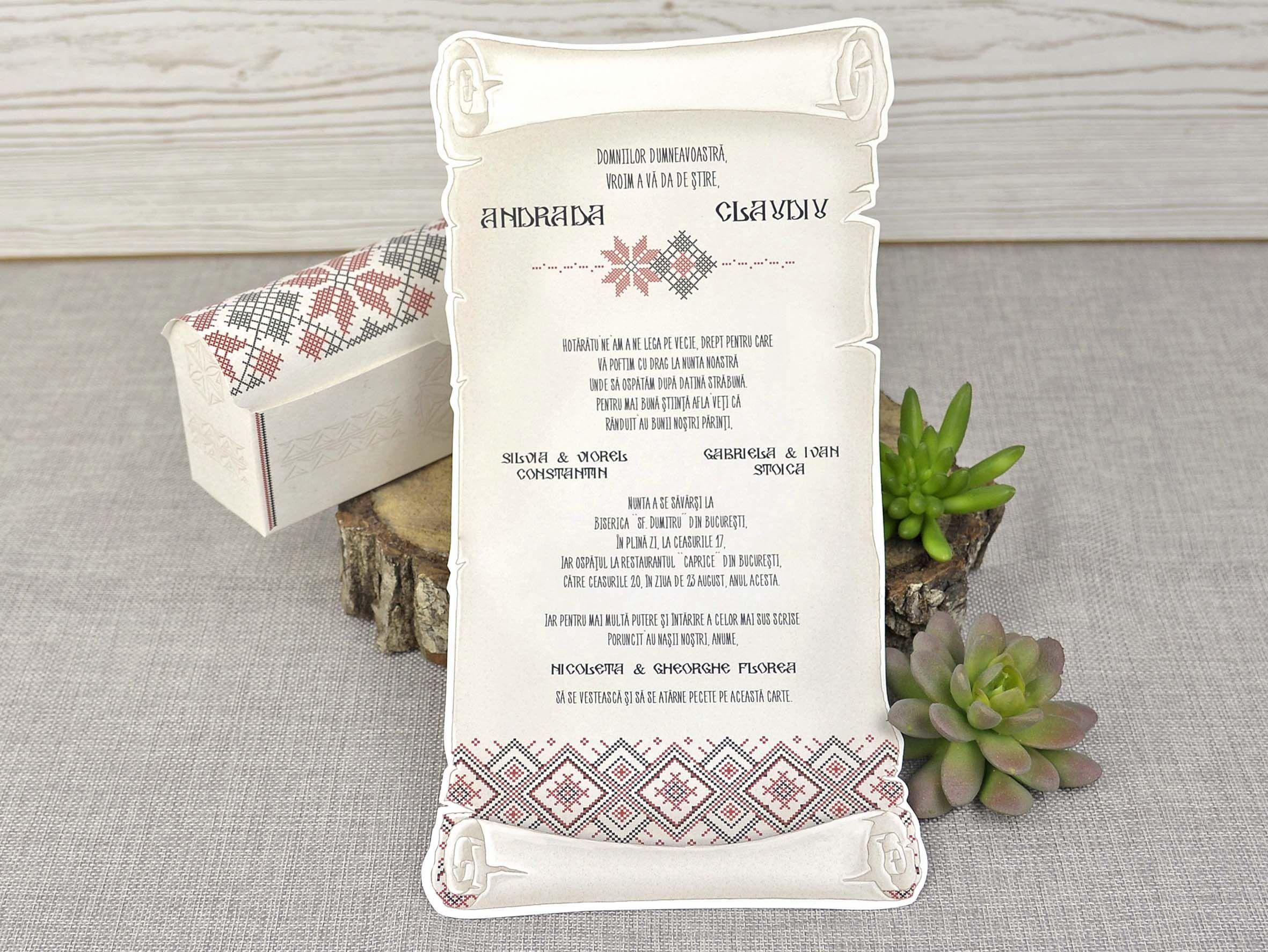 Invitatie nunta cod 39347