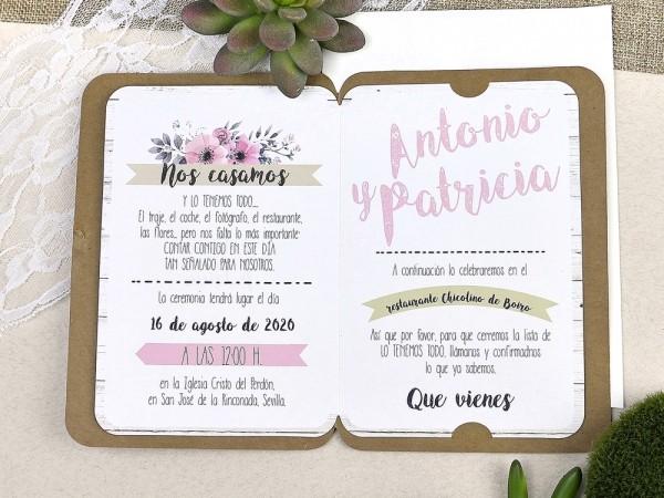 Invitatie nunta cod 39606