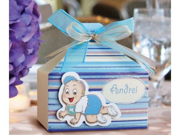 Marturie botez cutiuta bebe bleu