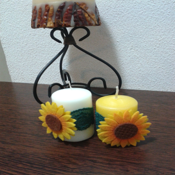 Marturie lumanare floarea- soarelui