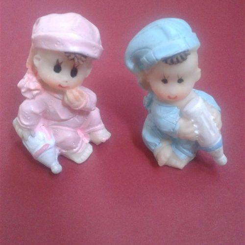 Marturie ceramica bebelus cu biberon