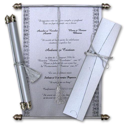 Invitatie nunta cod SSC08