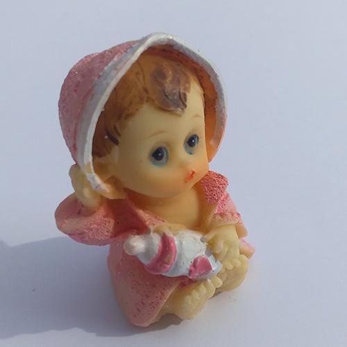 Marturie ceramica bebelus cu biberon - model 2