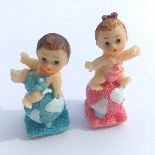 Marturie ceramica bebelus cu minge