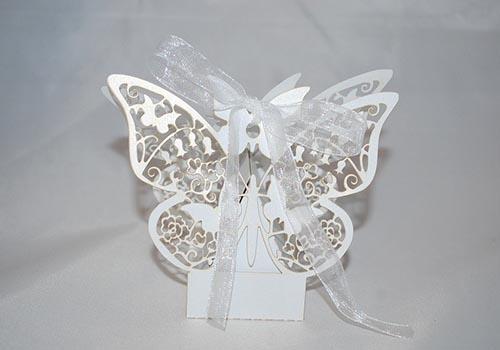 Cutie marturie nunta fluturas